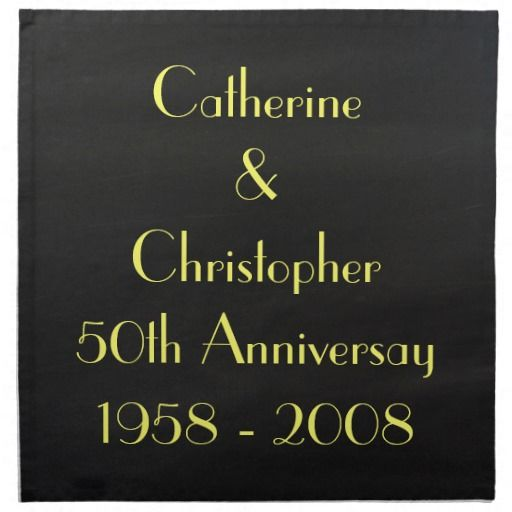 Personalize this chalkboard cloth napkin (set of 4) with your own special names/dates on zazzle.com