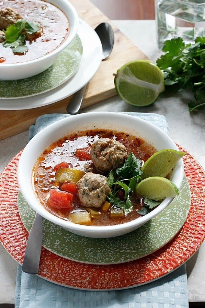 Mexican Meatball Soup | Recipes | Pinterest