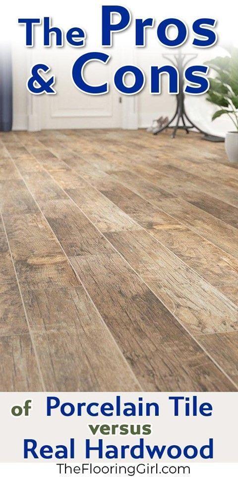 Hardwood Flooring Vs Tile Planks That Look Like Hardwood Pros And Cons The Flooring Girl In 2020 Wood Plank Tile Wood Look Tile Floor Wood Look Tile