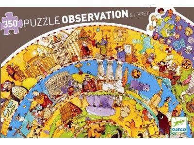Wielkie Puzzle Kołowe Historia Świata - wiek: 7+