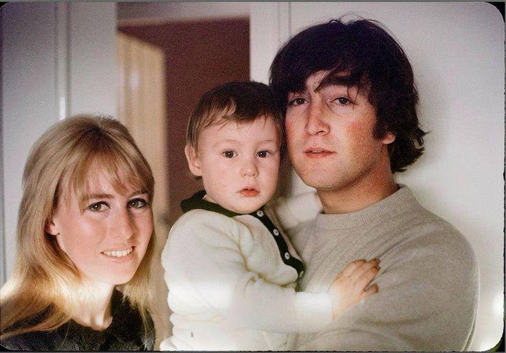 1965 - John Lennon and his ex-wife Cynthia Powell with their son Julian Lennon.