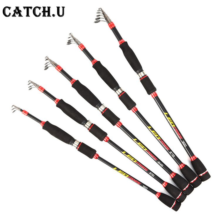 Travel Fishing Rod 2.1m 2.4m 2.7m Spinning Fishing Rod MH Hard Telescopic Fishing Rod Carbon Fiber Casting Rod #Affiliate