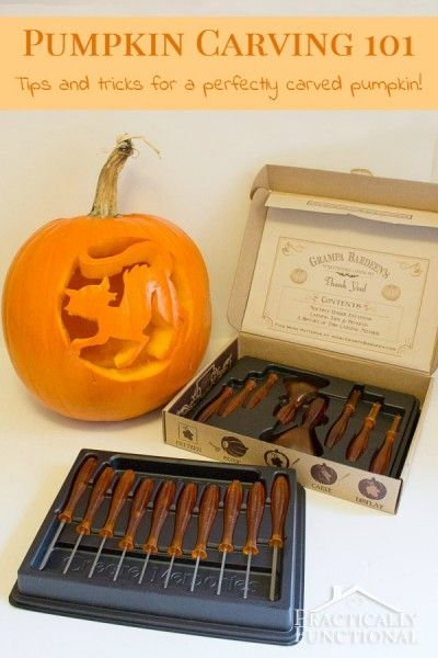 How To Carve A Pumpkin: 10 simple pumpkin carving tips for perfectly carved pumpkins every time! #pumpkincarving
