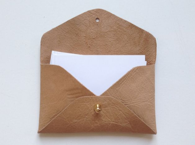 Business Card Case made from leather, Heydays on Dawanda.
