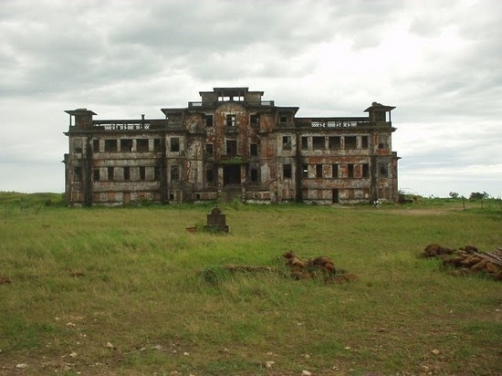 Bokor Hill Station. It was built in 1922, and the  building of the town is just stunning but really old-looking. If you  wonder why it was abandoned the answer is because of a war in the  70′s.