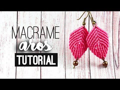 "bijouX Macrame - Tutorial n#3 Aros ""concha""/ DIY ""shell"" earring - YouTube"
