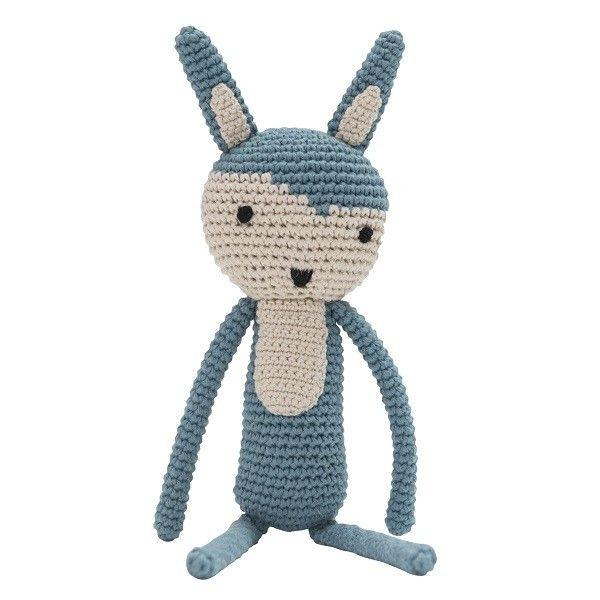 Questo delizioso coniglietto di Sebra con la sua dolcezza diventerà il miglior amico del vostro bimbo! Interamente realizzato a mano ad uncinetto .