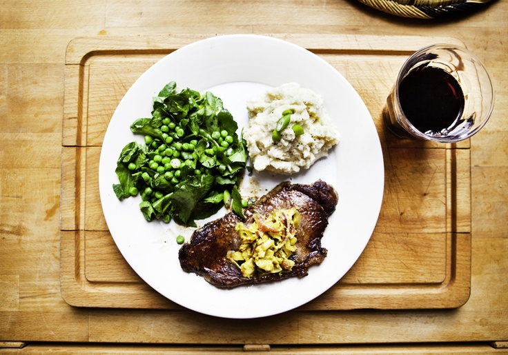 Steak and cauliflower mash for Vogue #eatingwell