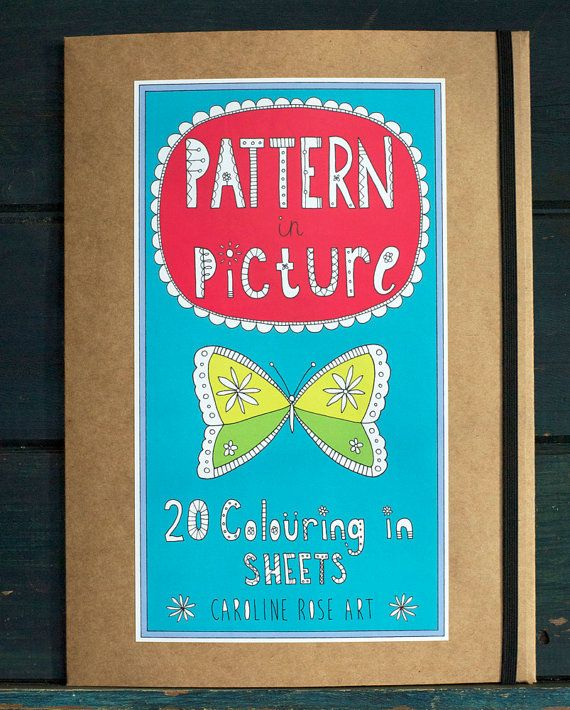 PATTERN IN PICTURE  20 colouring in sheets in a by CarolineRoseArt