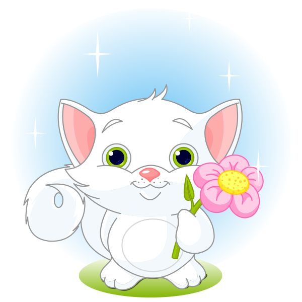 Pink Flower Kitten