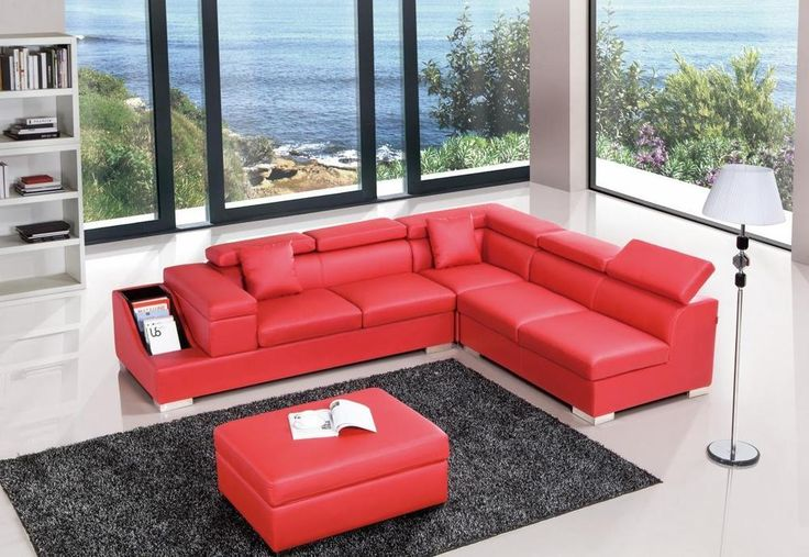 Divani Casa T306   Modern Contemporary Leather Sectional Sofa #VIGFurniture  #Modern