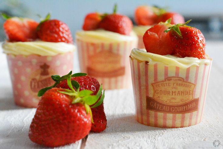 Cupcakes façon fraisier {Blog'Z day}