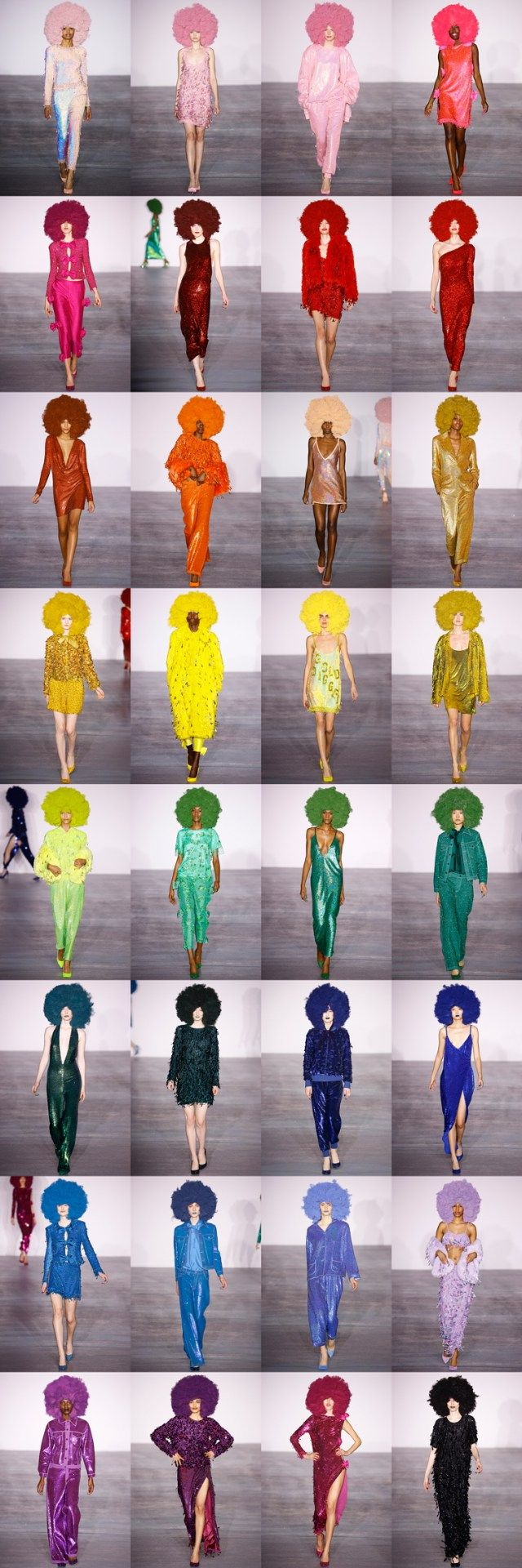 Fro the rainbow - http://www.vogue.com/fashion-shows/fall-2016-ready-to-wear/ashish/slideshow/collection THE BEST