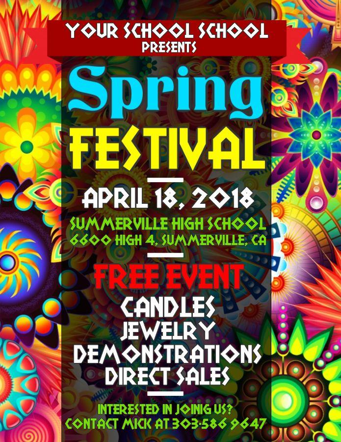 Spring Festival Event Flyer Poster Social Media Graphic Design Template Festival Flyer Poster Template Graphic Design Templates