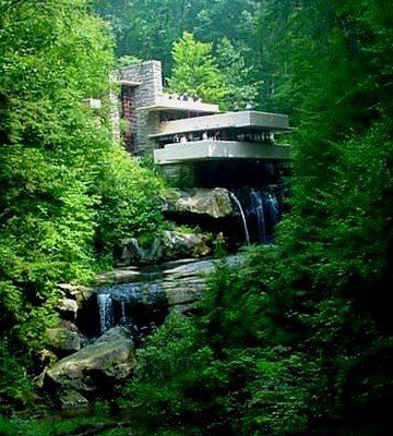 Falling Waters by architect Frank Lloyd Wright