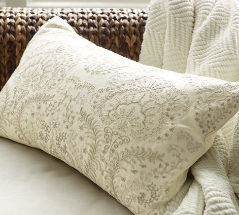 cream and grey ottoman pillow