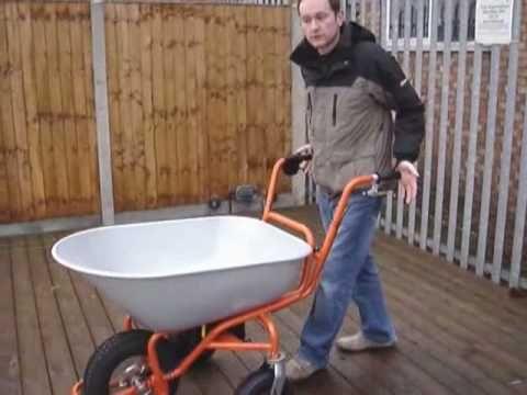 Electric Powered Barrow, Cordless wheelbarrow - YouTube