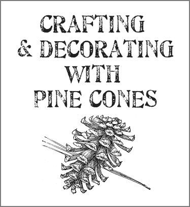 Ideas for decorating with & crafting with ~~ pine cones....I have collected a lots of pine cones over the years, so this should come in handy!