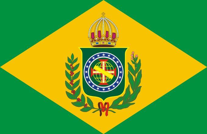 Flag of Empire of Brazil (1870-1889) - Evolução da bandeira do Brasil – Wikipédia, a enciclopédia livre