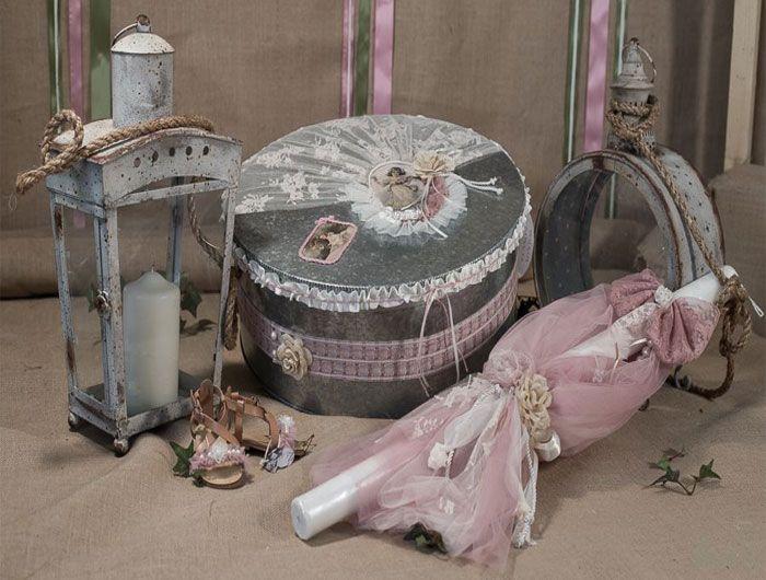 """Σετ βάπτισης Vinteli """" Vintage αγγελάκια & φιόγκος"""""""