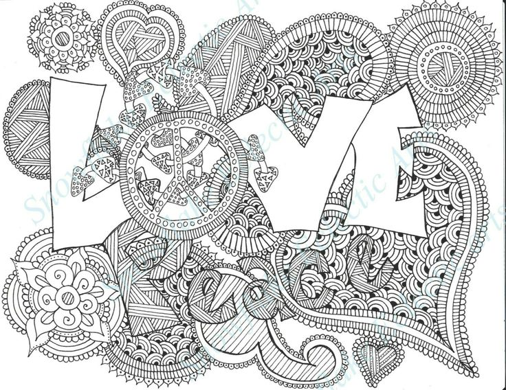 Hippie Coloring Pages Inspiration 41 Best Hippie Coloring Pages Images On Pinterest  Coloring Books .