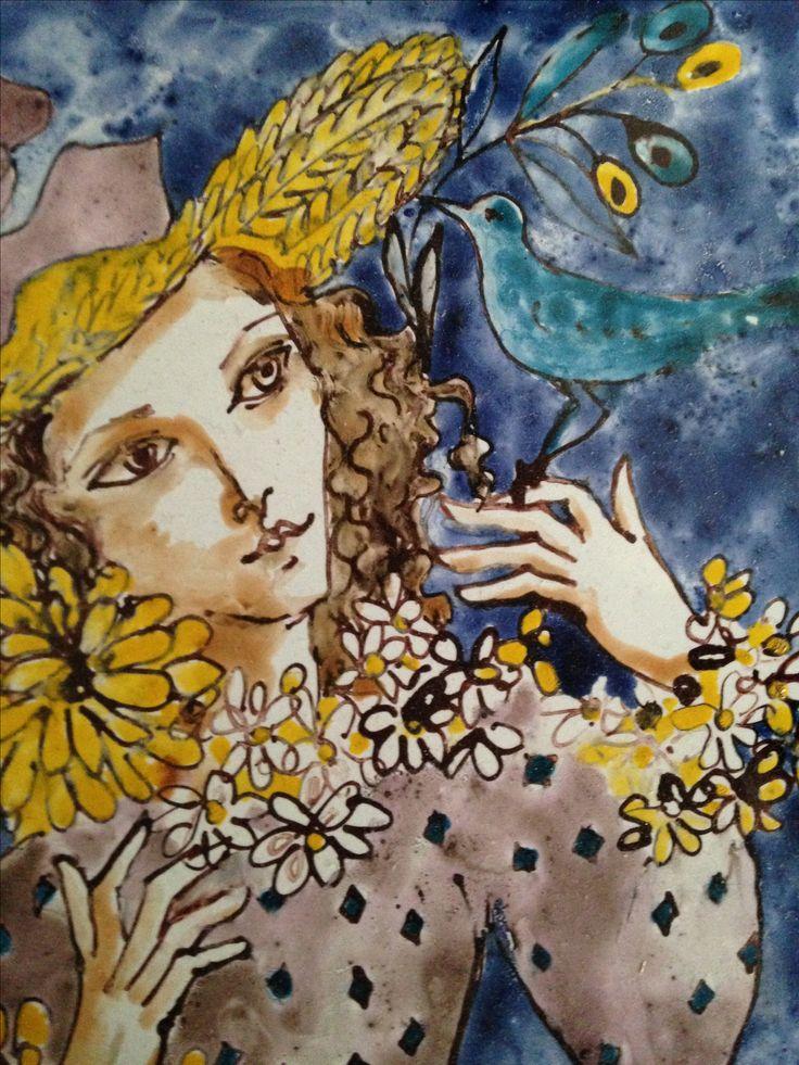 Azulejo de Marta Day. Detalle.