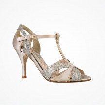 Scarlett (ivory) by Love Art Wear Art | Vintage-inspired t-bar wedding shoes