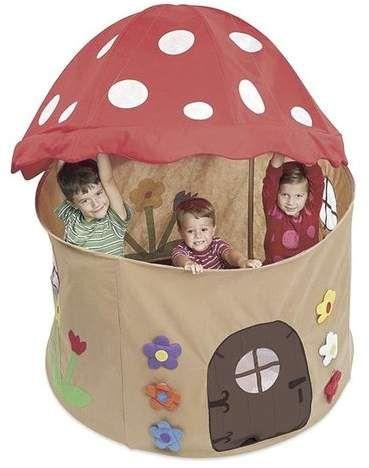 Magic Cabin Mushroom Play Tent for toddlers #playtime #cubbyhouse #afflink #mushroom #adventure