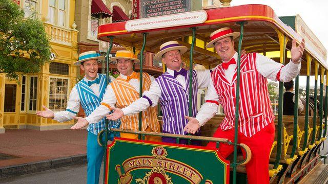 Enjoy the vaudeville humor and harmonic singing of the Dapper Dans barbershop quartet.
