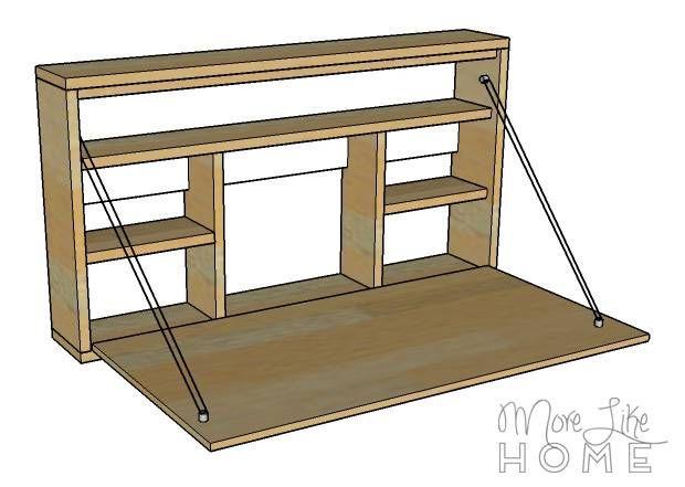 Diy Desk Series 9 Fold Down Wall Desk Wall Desk Diy Desk