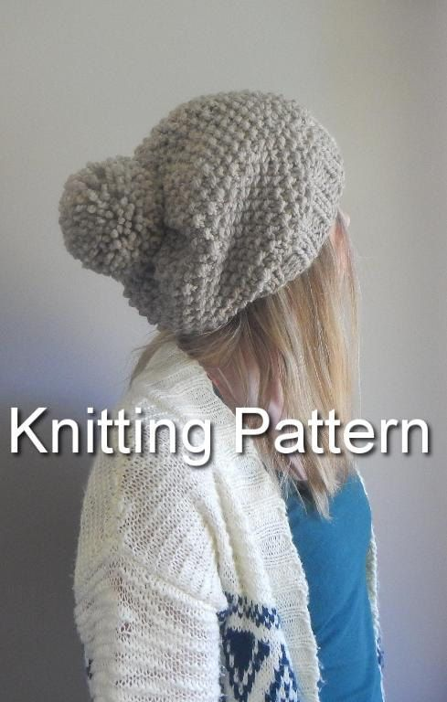 Knitting Pattern The Super Slouch POM Modern by LoveEweNatural