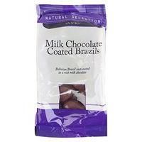 NATURAL SELECTION-FOOD - DRINK AND GIFTS-Food-Milk Chocolate Coated Brazils 200g-£1.69-4 Advantage card points. Milk Chocolate Coated Brazils 200g. Bolivian Brazil nuts coated in a rich milk chocolate FREE Delivery on orders over 45 GBP.