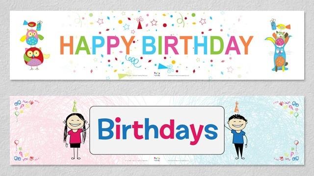 Birthday Display Banners | PaperZip Teaching Resources