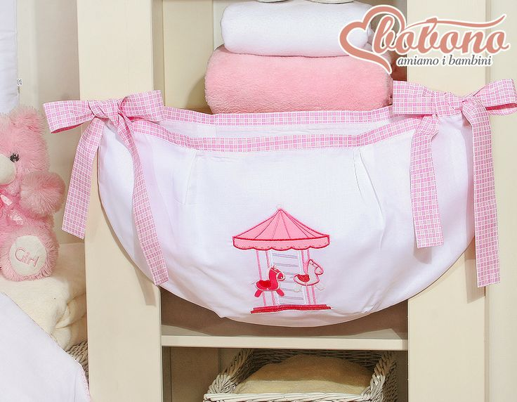 "Pink toys bag ""Carousel"" / Bobono"