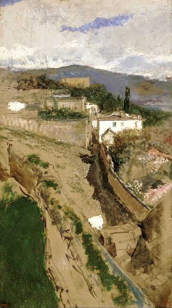 Mariano Fortuny Marsal, Granada Landscape (Around 1871) on ArtStack #mariano-fortuny-marsal #art