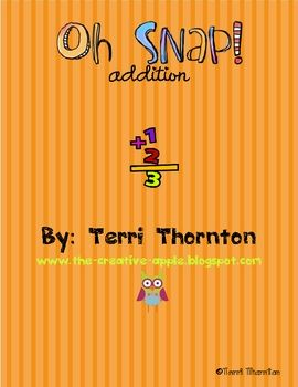 Oh Snap (math): Card Addition, Card Math Games, Challenge, Addition Fact Game, Addition Card Games, Easy Math Game, Addition Game, Playing Card, Math Card Game