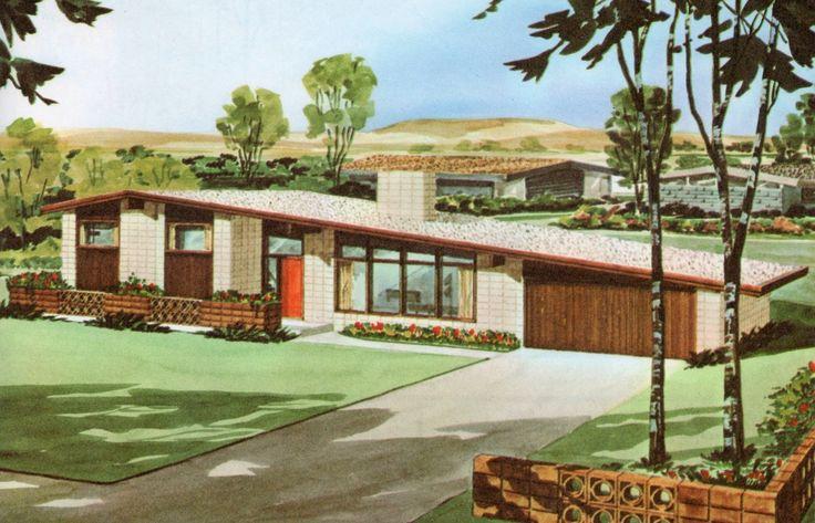 Moderne Zaun, Haus Der Mitte Des Jahrhunderts, Florida Hause, Vintage  Architektur, Design