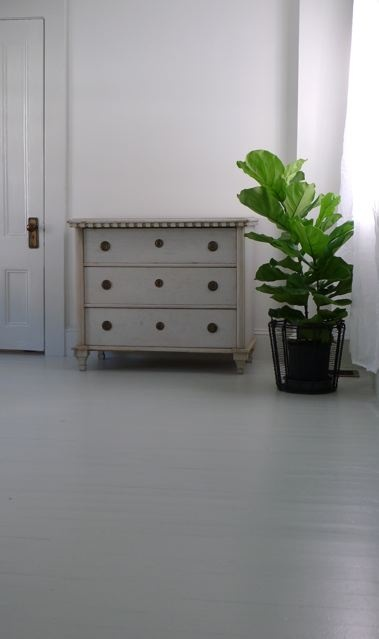 gray floor and chest