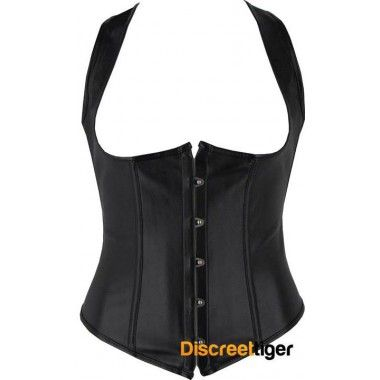 FUN BLACK FAUX LEATHER RACERBACK CORSET With a long racer-back design and extra tie up lace, you can't go wrong. Comfortable boning throughout and wide supportive straps on the front adds the perfect touch of fashionista flair and is fastened with flexible steel busk clips assuring that your style is always securely intact.  @discreettiger #fauxleather #underbustcorset #vest #plussize #steampunk #newyou http://www.discreettiger.com.au/corsets/underbust-corsets