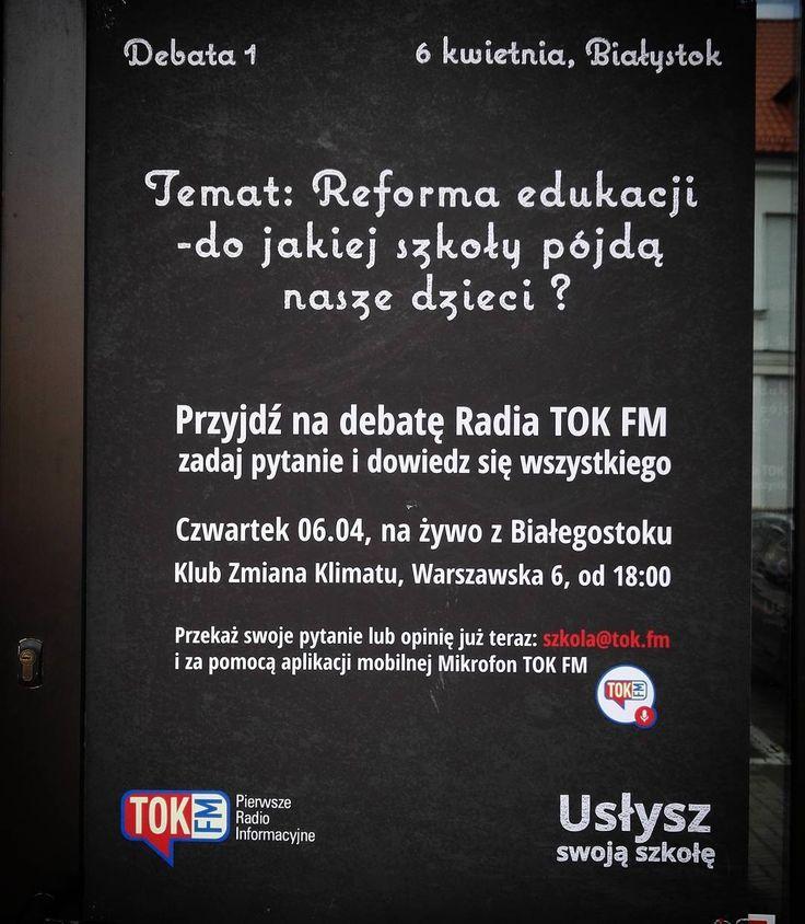 Białystok! Czekamy po 18 w Zmianie Klimatu. Jaka zmiana czeka polską szkołę? #reformaedukacji  #szkola #szkoła #debata #radio #tokfm #TOKFM