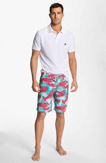 Villebrequin Polo & Board Shorts | Nordstrom: Polo Boards, Men Norstrom, Preppy Guys, Men Resorts, Families Photography, Resorts Wear, Vilebrequin Boardshorts, Boards Shorts, Negro Carbón