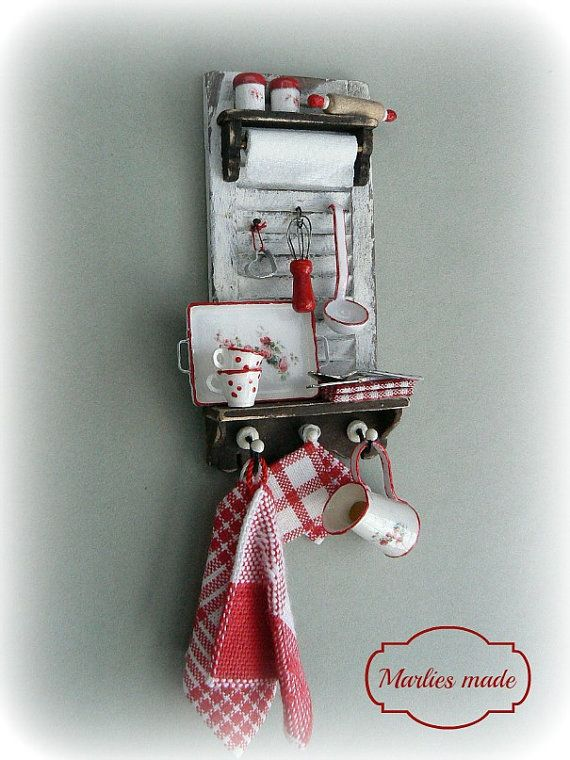 Kitchen Rack in 112 scale by marliesmade on Etsy