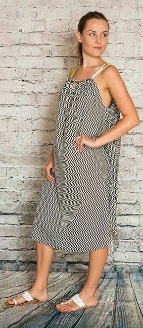 Chevron Cotton Dress  $59  onesize  (rrp $149)