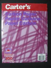 Carter's CARBON PAPER 100 MIDNIGHT (8 1/2 x 11 in) SHEETS