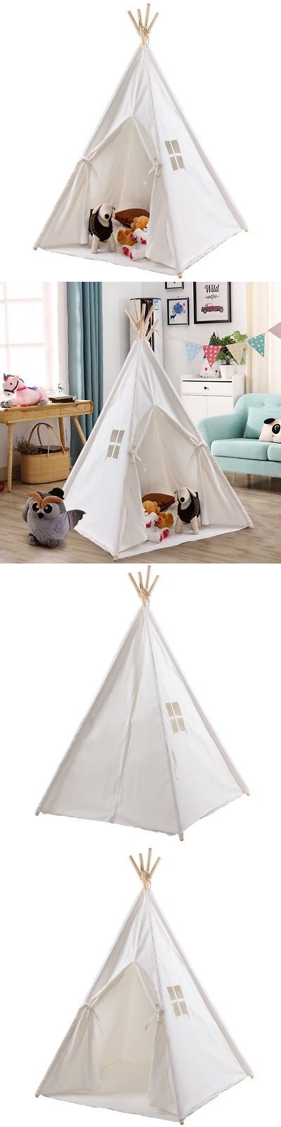 Play Tents 145997: 5 Portable Sleeping Dome Play Tent Indian Children Kid Teepee Tipi White Lovely -> BUY IT NOW ONLY: $55.98 on eBay!