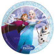 Karlar Ülkesi Frozen Doğum Günü Tabakları 8 Adet