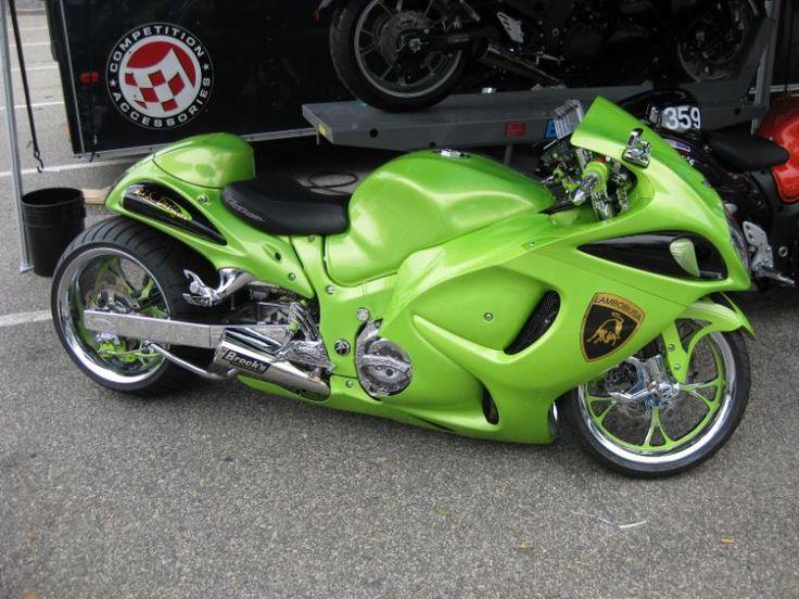 Custom Lambo Suzuki Hayabusa , stretched , rims , http://www.PashnitBusa.com #pashnit #hayabusa