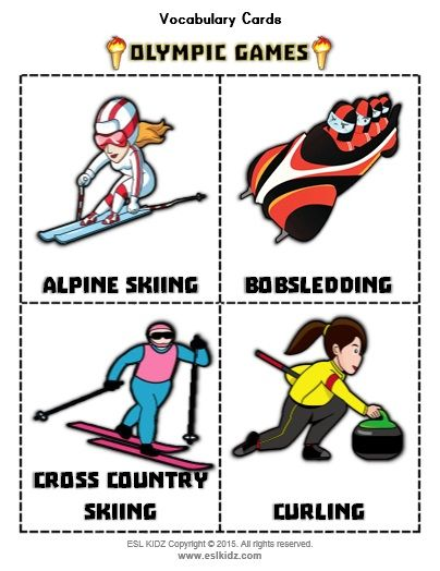 Winter Olympic Flashcards