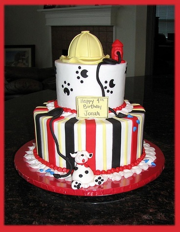 Firefighter birthday cake | Shared by LION