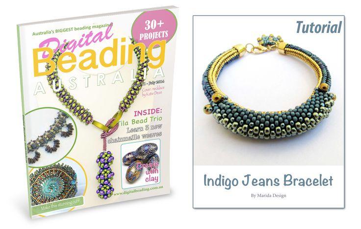 """Tutorial del bracciale """"Indigo Jeans"""" pubblicato sulla rivista """"Digital Beading Australia"""""""